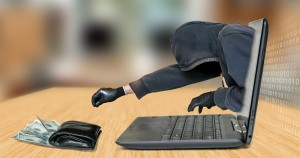 Anonymous thief - hacker steals money from laptop